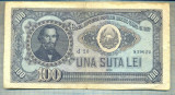 A1095 BANCNOTA-ROMANIA(RPR) - 100 LEI- 1952 -SERIA 839622 -starea care se vede