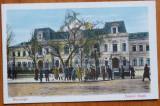 Bucuresti ; palatul Regal , animatie , color , inceput de secol 20, Necirculata, Printata