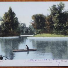 Bucuresti , Lacul Cismigiu , circulata , 1901 la Roma, Printata