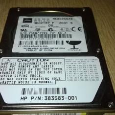 HARD DISK LAPTOP IDE 60 GB TOSHIBA MK6025GAS IMPECABIL - HDD laptop Toshiba, 41-80 GB, Rotatii: 4200, 8 MB