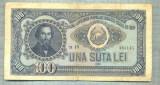 A1096 BANCNOTA-ROMANIA(RPR) - 100 LEI- 1952 -SERIA 335141 -starea care se vede