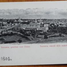 Suczawa, Suceava, vazuta dela rasarit, clasica, 1908, necirculata - Carte Postala Bucovina 1904-1918, Printata