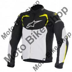 MBS Alpinestars Textiljacke T-Gp Pro, Schwarz-Wei-Gelb Fluo, L, P:16/006, Cod Produs: 3305016125LAU - Imbracaminte moto Alpinestars, Geci