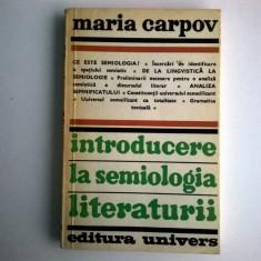 Maria Carpov – Introducere la semiologia literaturii - Eseu