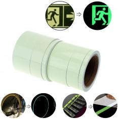 Banda fosforescenta luminoasa Verde, autoadeziva