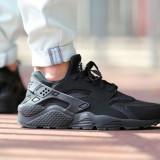 Nike Air Huarache Full Black - Adidasi barbati Nike, Marime: 39, Culoare: Negru