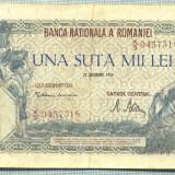 A1088BANCNOTA-ROMANIA-100000LEI-20DECEMVRIE1946-SERIA0437318-starea care se vede - Bancnota romaneasca