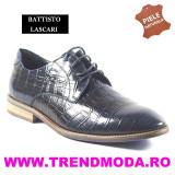 "Pantofi barbati piele naturala OTTO JONES bleumarin lac ""croco"" (Marime: 44) - Pantof barbat"