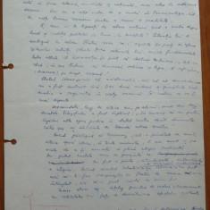 5 pagini de manuscris Maria Banus, scrise si semnate olograf, 1970 - Autograf