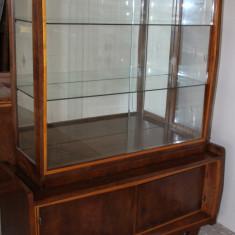 Vitrina Vintage cu geamuri cristal; Biblioteca; Dulap; Scrin; Comoda