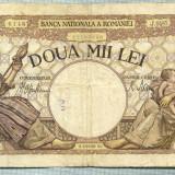 A1062 BANCNOTA-ROMANIA-2000 LEI- 18 NOEMVRIE 1941-SERIA0485-starea care se vede - Bancnota romaneasca