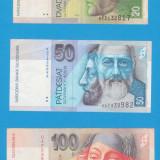 LOT BANCNOTE SLOVACIA - 20, 50, 100, 200, 500 KORUN - bancnota europa