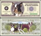!!! SUA = FANTASY NOTE =  BOSTON  TERRIER  - 2006 - UNC  /  SERIA  CAINI , WOOF