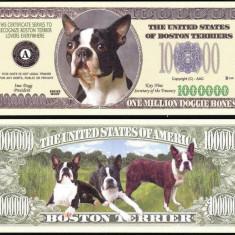 !!! SUA = FANTASY NOTE = BOSTON TERRIER - 2006 - UNC / SERIA CAINI, WOOF - bancnota america