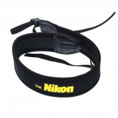 Curea de umar neopren pentru camere foto mirrorless si DSLR Nikon - Geanta Aparat Foto