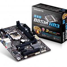 Placa de baza GIGABYTE Socket 1150, B85M-HD3, INTEL B85, 2* DDR3 1600/1333, VGA/DVI/HDMI, 1*PCIEx3.0/2*PCIEx1/1*PCI, 4*SATA3, 2*SATA2, bulk, Pentru INTEL, LGA 1150, MicroATX
