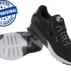 Adidasi dama Nike Air Max 90 Ultra Essential - adidasi originali - la cutie, Culoare: Negru, Marime: 38.5, Piele naturala