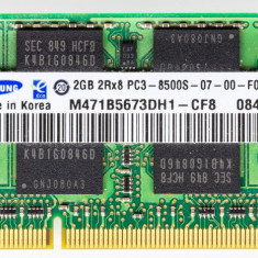 Ram rami leptop 2GB DDR3 2RX8 PC3-8500-07-00 (sau kit 4 giga)