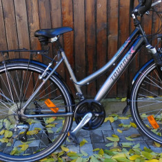 Bicicleta Trekking Tourex, import Germania, 18 inch, 28 inch, Numar viteze: 21