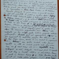 Manuscris Stefan Banulescu, 5 pagini, informare despre vizita in Franta, 1967 - Autograf