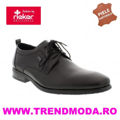 Pantofi barbati piele naturala RIEKER 10620-00 negru (Marime: 40) - Pantof barbat