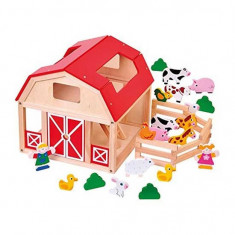 Jucarie grajd din lemn cu animale 82221 Woodyland Altele