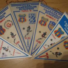 Lot 6 fanioane Steaua Bucuresti / anii 80