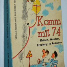 Almanah editat in lb. Germana Komm mit ' 74 reclame jucarii, camioane, s.a.