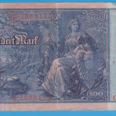 (5) BANCNOTA GERMANIA - 100 MARK 1910 (21 APRILIE 1910) - STAMPILA ROSIE - bancnota europa