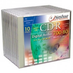Nashua CD-R 16x Recordable Audio dedicate Home/Stand alone recorder (set 10 buc)