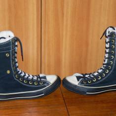 Ghete Converse All Star marimea 39.5 in stare foarte buna - Tenisi dama Converse, Culoare: Negru, Piele intoarsa
