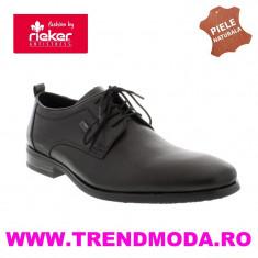 Pantofi barbati piele naturala RIEKER 10620-00 negru (Marime: 43) - Pantof barbat