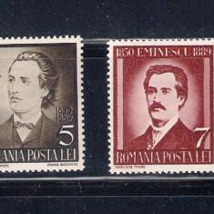 REDUCERE 20-50% !! 50 ANI DE LA MOARTEA LUI EMINESCU - LP 130 - Timbre Romania, Nestampilat