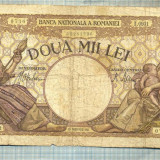 A1059 BANCNOTA-ROMANIA-2000 LEI- 18 NOEMVRIE 1941-SERIA0931-starea care se vede - Bancnota romaneasca