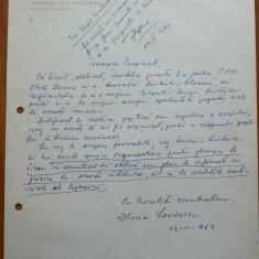Teatrul Nottara , pagina cu antet scrisa olograf de Horia Lovinescu , 1969