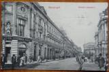 Bucuresti , Strada Lipscani , circulata , 1909