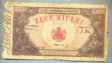 A1075 BANCNOTA-ROMANIA-10000 LEI-18 MAI 1945-SERIA0123-starea care se vede