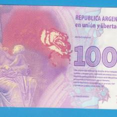 (1) BANCNOTA ARGENTINA - 100 PESOS, STARE AUNC - bancnota america