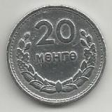 MONGOLIA  20  MONGO  1959  [1]   KM 26  ,   livrare in cartonas, Asia, Aluminiu