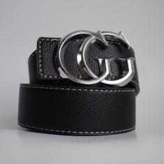 Curea Gucci 2 Fete Negru / Maro GG - Curea Barbati Gucci, Marime: Marime universala, Culoare: Din imagine