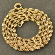 Superb lant 9k GOLD FILLED weaWE - Colier placate cu aur