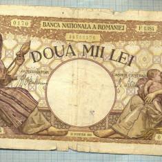 A1057 BANCNOTA-ROMANIA-2000 LEI- 18 NOEMVRIE 1941-SERIA1384-starea care se vede - Bancnota romaneasca
