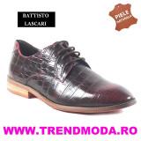 "Pantofi barbati piele naturala OTTO JONES rosu lac ""croco"" (Marime: 42) - Pantof barbat"