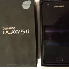 Telefon mobil Samsung Galaxy S2 i9100 Negru impecabil ful box, 8GB, Neblocat
