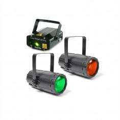 Beamz Pachetul Light 2 Disco efect luminos Set 2x 1x Efecte de lumină laser - Efecte lumini club