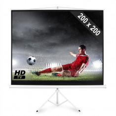 Ecran de proiecție Home Cinema cu trepied 200x200 cm - Touchscreen telefon mobil