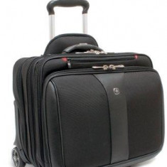 Wenger Potomac 15.4 inch Double Gusset Wheeled Computer, Black
