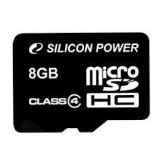 SILICON POWER MICRO SDHC 8GB CL4 WITHOUT ADAPTER - Card memorie