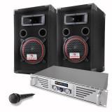 Set de Boxe DJ- PA complet Basic Amplificator- Boxe- Mic