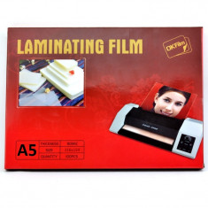 Folie de laminat format A5, 100 microni, lucioasa, set 100 bucati